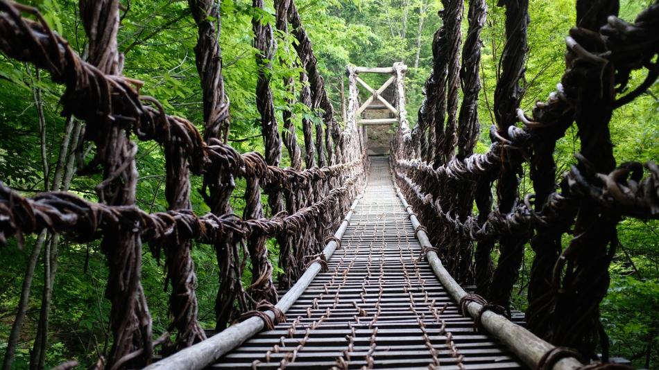 Oku-Iya bridges vine bridge Hekie Clan (1)