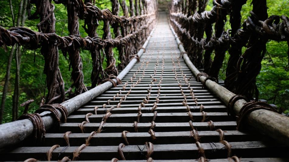 Oku-Iya bridges vine bridge Hekie Clan (2)
